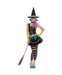 Подростковый костюм неоновой ведьмы