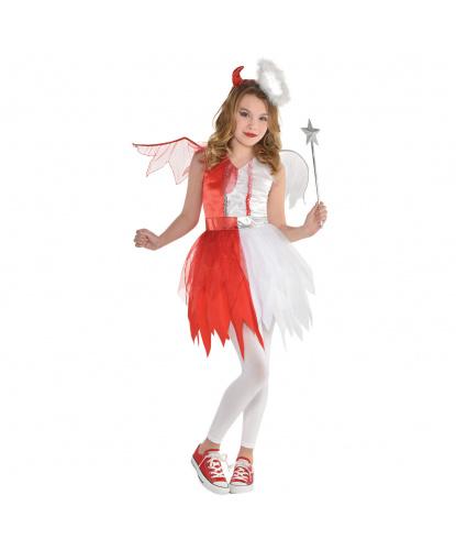 Костюм Ангел-Дьявол: платье, крылья, ободок (Германия)