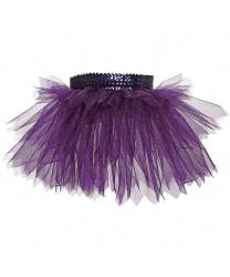 Юбка-пачка, фиолетовая с блестками (детская)