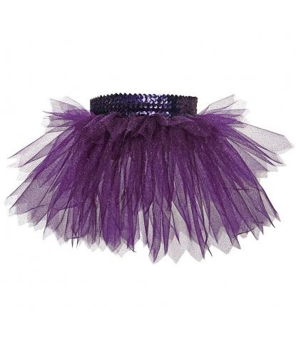 Юбка-пачка, фиолетовая с блестками (детская): юбка (Польша)