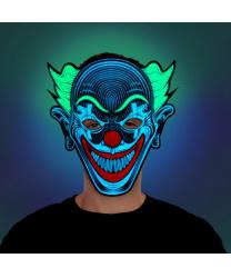 Маска светодиодная, реагирующая на звук Клоун, пена (Великобритания)
