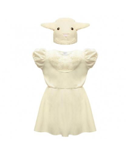 Детский костюм овечки: платье, шапочка (Польша)