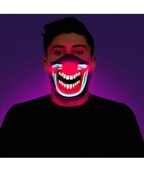 """Полумаска светодиодная, реагирующая на звук """"Клоун"""""""