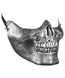 Полумаска серебряного черепа