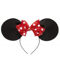 Уши мышки с бантиком