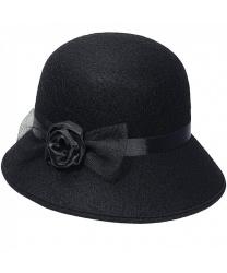"""Черная шляпка """"Чарльстон"""""""