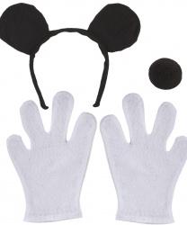 Набор мышки с белыми перчатками