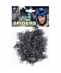 Набор черных пауков
