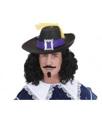 Шляпа мушкетера с желтым пером