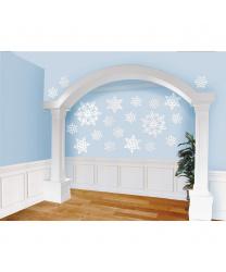 Набор блестящих снежинок