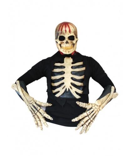 Скелет латексный: маска, перчатки, футболка (Германия)