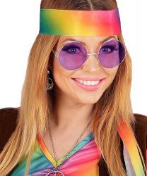 Очки круглые в стиле 70-х, фиолетовые