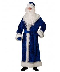 """""""Дед Мороз"""" велюр, тиснение, синий"""