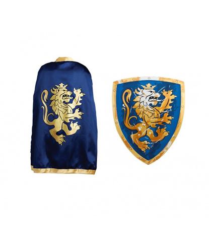 Накидка и щит рыцаря Золотой лев: накидка, щит (Дания)