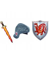 """Рыцарский шлем, меч и щит """"Янтарный дракон"""""""