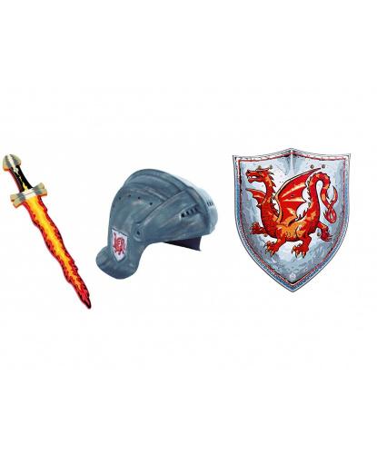 Рыцарский шлем, меч и щит Янтарный дракон, EVA (пенистый материал) (Дания)