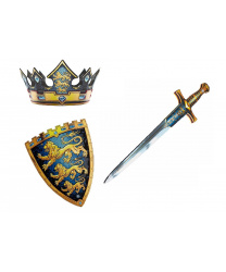 """Корона, щит и меч короля """"Три льва"""""""