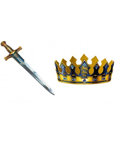 Корона и меч короля, 57см, EVA (пенистый материал) (Дания)