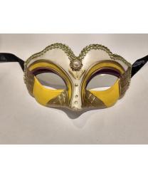 Карнавальная маска детская (бежево-желтая)