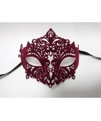 Венецианская бордовая бархатная маска Giglietto