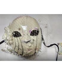Женская маска Череп с вуалью