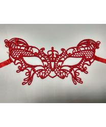 Кружевная маска Filo butterfly, красная