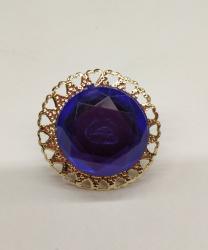 Синее круглое кольцо