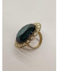 Зеленое круглое кольцо