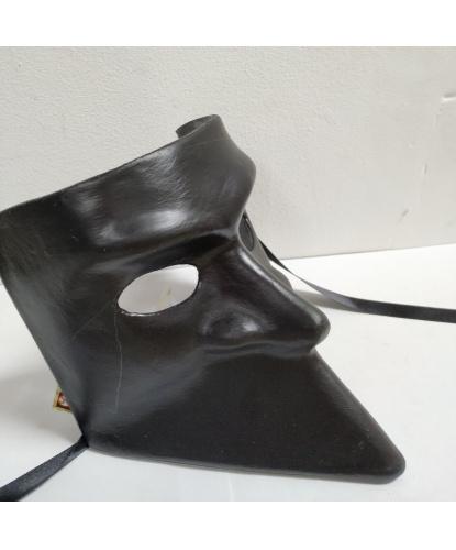 Венецианская маска Bauta черная, папье-маше (Италия)
