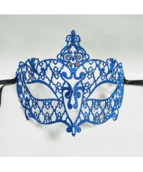 Маска Brillina Grande, синяя с блестками