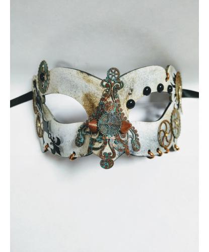 Карнавальная маска в стимпанк стиле, папье-маше, металл (Италия)