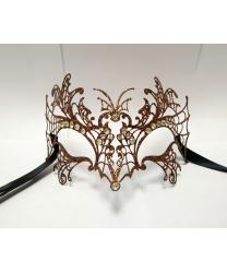 Венецианская маска Farfalla бронзовая