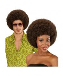 Коричневый парик-афро