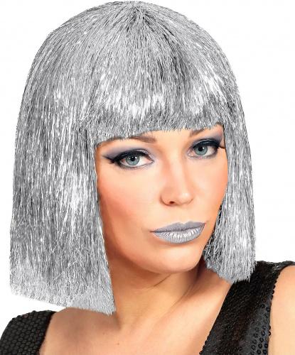 Серебряный парик-каре: серебряный (Италия)