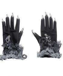 Перчатки с ногтями на Хэллоуин