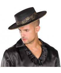 Испанская шляпа с золотой кружевной лентой