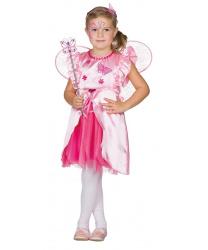 Розовое платье феи бабочек