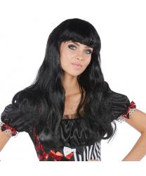 Черный парик с челкой