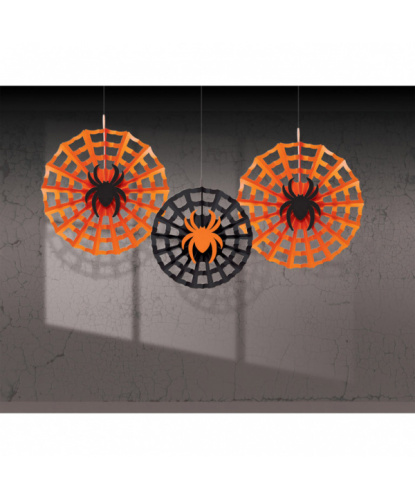 Подвесная декорация на Хэллоуин Три паука