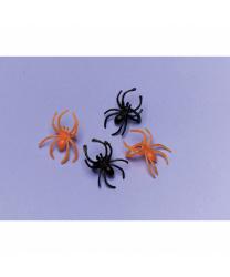Набор черных и оранжевых пауков