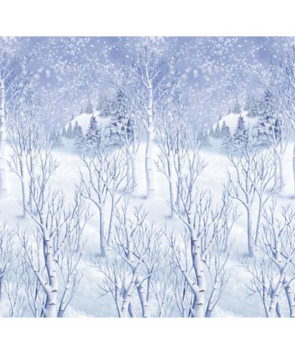 Баннер на стену Зимний лес