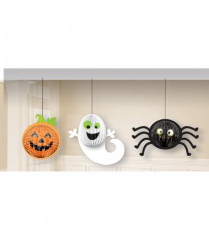 Подвесная декорация на Хэллоуин Тыква, призрак, паучок