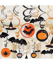 Серпантин с подвесными элементами на Хэллоуин