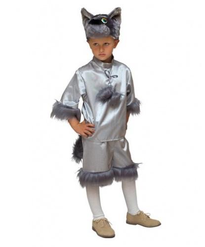 Детский костюм серого волка: головной убор, рубашка, бриджи (Россия)