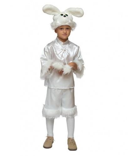 Костюм белого зайца: штаны, кофта, головной убор (Россия)