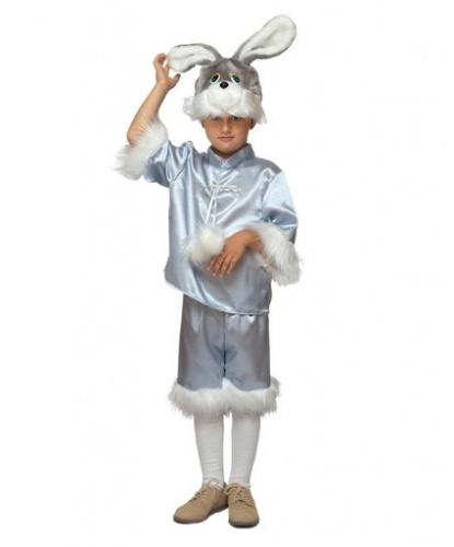 Костюм серого зайца: штаны, кофта, головной убор (Россия)