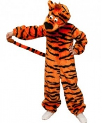 Детский костюм тигра: головной убор, комбинезон (Россия)