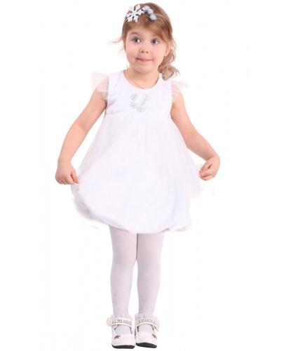 Костюм маленькой снежинки: платье, корона (Россия)