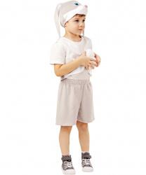 Костюм серого зайца: жилетка, шорты, шапочка (Россия)