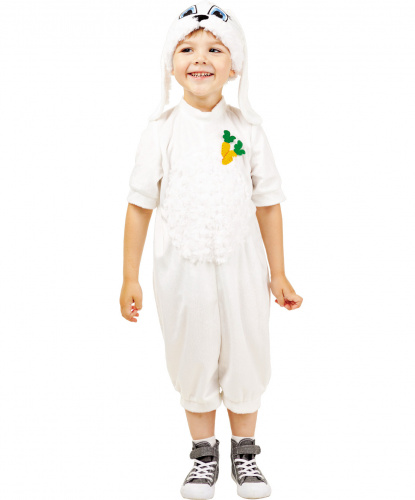 Детский костюм Зайчик: укороченный комбинезон, шапочка (Россия)